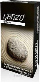 Презервативы Ganzo Extase 12 Точечные и ребристые, анатомической формы ШТ, фото 3