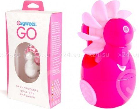 Клиторальный вибростимулятор Sqweel Go Pink розовый, фото 2