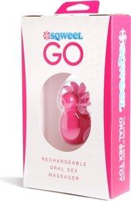 Клиторальный вибростимулятор Sqweel Go Pink розовый, фото 6