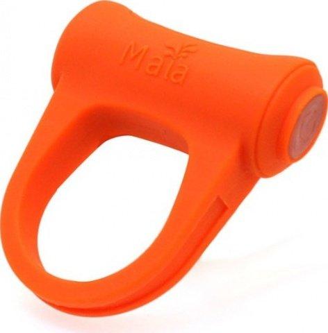 Виброкольцо Adam, с подзарядкой, силикон, оранжевое