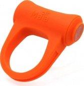 Виброкольцо Adam, с подзарядкой, силикон, оранжевое, длина общая 5,5см, внутренний диаметр кольца 3см (тянется)., длина общая 5,5см, внутренний диаметр кольца 3см (тянется). - Секс-шоп Мир Оргазма