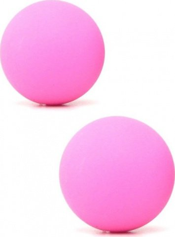 Два шарика, металлические с силиконовым покрытием, розовые, 20 мм