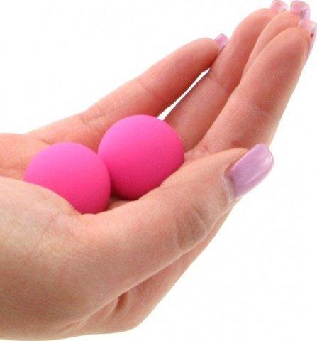 Два шарика, металлические с силиконовым покрытием, розовые, 20 мм, фото 2