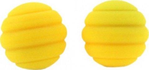 Два шарика Twistty, металлические с силиконовым покрытием, желтые, 28 мм