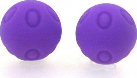 Два шарика Wicked, металлические с силиконовым покрытием, фиолетовые, 25 мм