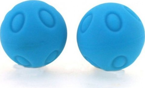 Два шарика Wicked, металлические с силиконовым покрытием, голубые, 25 мм