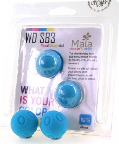 Два шарика Wicked, металлические с силиконовым покрытием, голубые, 25 мм, фото 2
