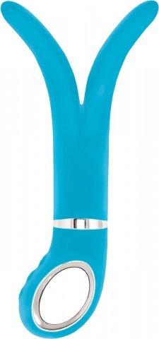 Анатомический вибромассажер Fun Toys Gvibe 2 Голубой 24 см