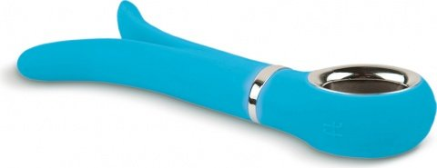 Анатомический вибромассажер Fun Toys Gvibe 2 Голубой 24 см, фото 3