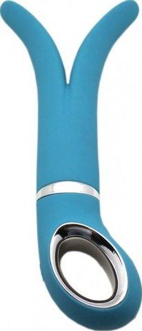 Анатомический вибромассажер Fun Toys Gvibe 2 Голубой 24 см, фото 4