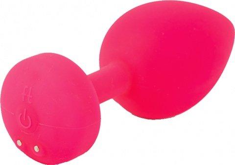 Маленькая дизайнерская анальная пробка с вибрацией Fun Toys Gplug розовая, фото 2