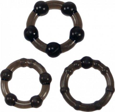 Набор эрекционных колец Easy Squeeze Cock Ring Set Linx