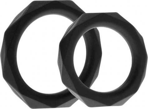 Эрекционные кольца Rock Rings The Cocktagon ll 2 Pack Black