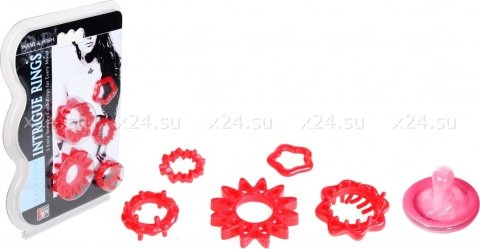Набор колец красные, фото 2