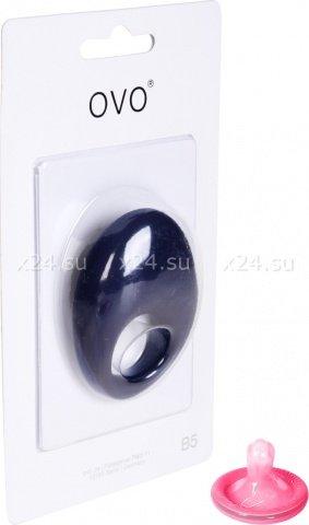 Синее эрекционное кольцо на пенис OVO с вибрацией, фото 2