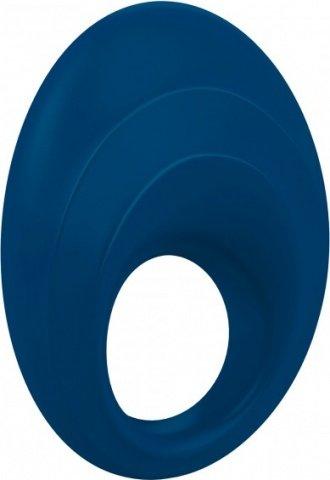 Синее эрекционное кольцо на пенис OVO с вибрацией, фото 5