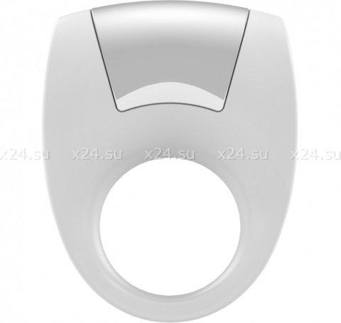 Эрекционное белое кольцо на пенис OVO с вибрацией