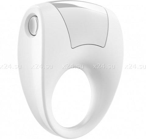 Эрекционное белое кольцо на пенис OVO с вибрацией, фото 6