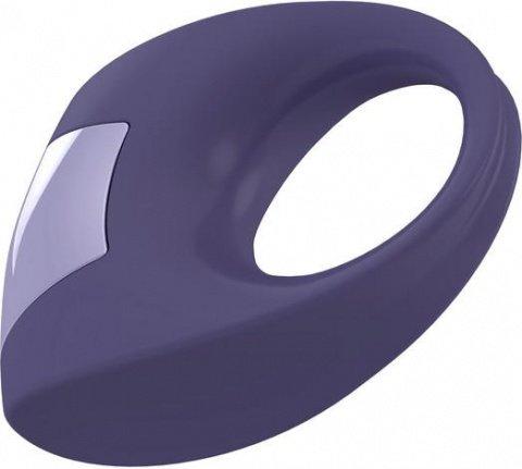 Эрекционное фиолетовое кольцо на пенис OVO с вибрацией, фото 2