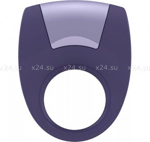 Эрекционное фиолетовое кольцо на пенис OVO с вибрацией, фото 5