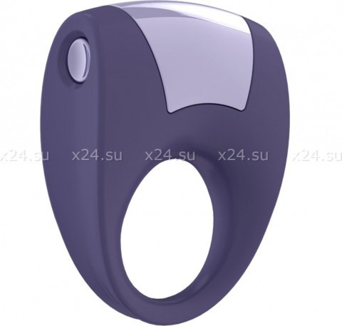 Эрекционное фиолетовое кольцо на пенис OVO с вибрацией, фото 6