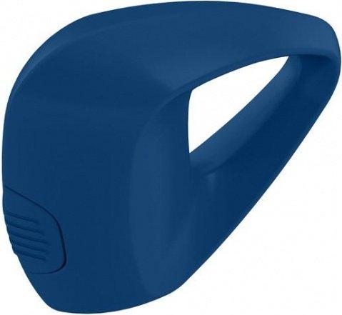 Синее треугольное эрекционное кольцо на пенис OVO с вибрацией, фото 2