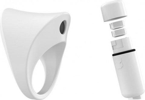 Широкое эрекционное кольцо на пенис OVO с вибрацией, фото 2