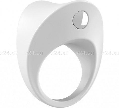 Широкое эрекционное кольцо на пенис OVO с вибрацией