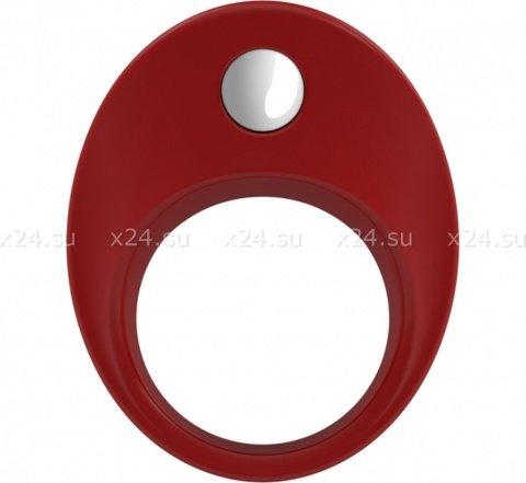 Широкое эрекционное кольцо на пенис OVO с вибрацией, фото 5
