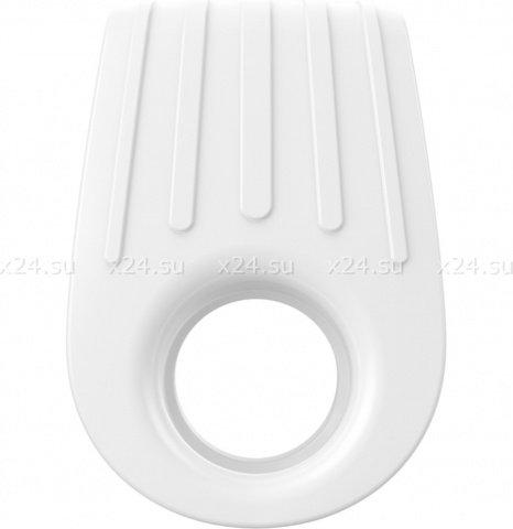 Двойное эрекционное белое виброкольцо на пенис OVO, фото 4