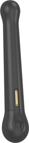 Черный водонепроницаемый вибратор OVO c шариком на конце (5 режимов) 22 см, фото 3