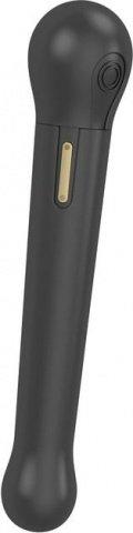 Черный водонепроницаемый вибратор OVO c шариком на конце (5 режимов) 22 см, фото 4