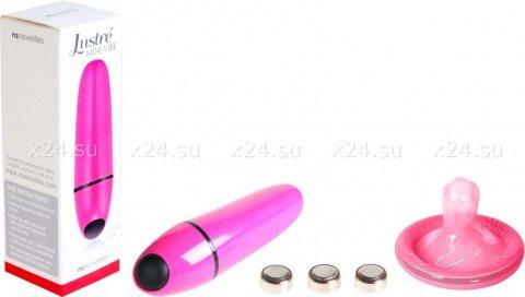 Розовый мини-вибратор justre (7 режимов)