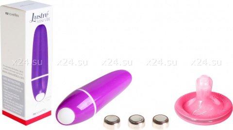 Фиолетовый мини-вибратор justre (7 режимов)