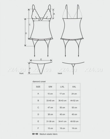 Черный цветочный корсет diamond corset, фото 2