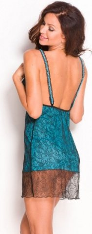 Комбинация Gillian, черно-голубая, фото 2