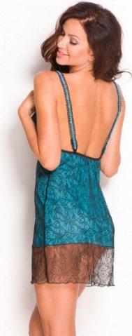 Комбинация Gillian, черно-голубая, M, фото 2