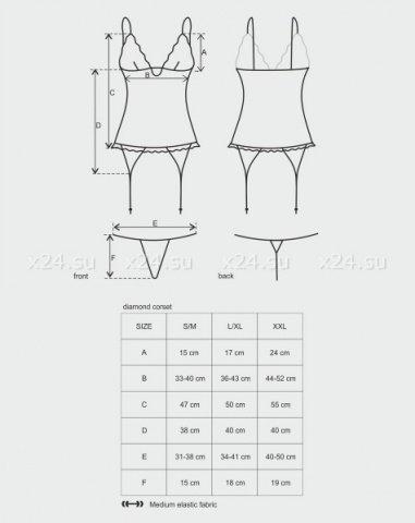 Черный цветочный корсет diamond corset, фото 3