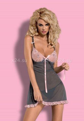 Розово-серая сорочка dovelia chemise