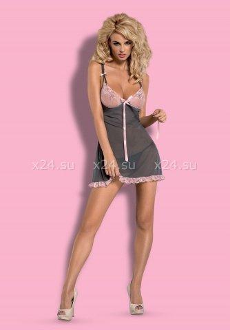 Розово-серая сорочка dovelia chemise, фото 2