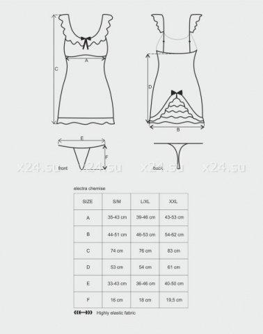 Сорочка с рюшами electra chemise, фото 3