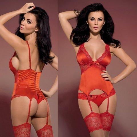 Корсет ярко-красный secred corset