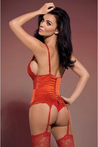 Корсет ярко-красный secred corset, фото 3