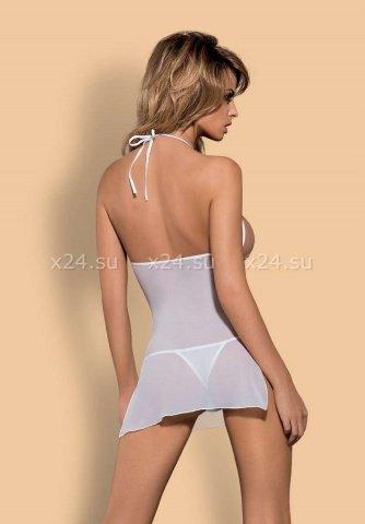 Белое платье с бежевым кружевом bisquitta chemise, фото 2