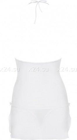 Белое платье с бежевым кружевом bisquitta chemise, фото 4