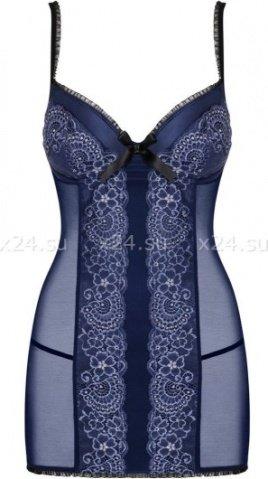 Синяя сорочка с кружевом auroria chemise, фото 3