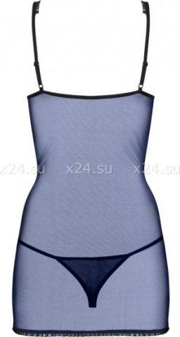 Синяя сорочка с кружевом auroria chemise, фото 4
