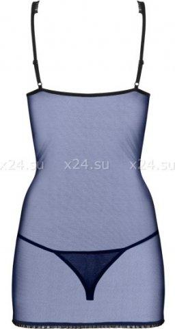 Синяя сорочка с кружевом auroria chemise, фото 6