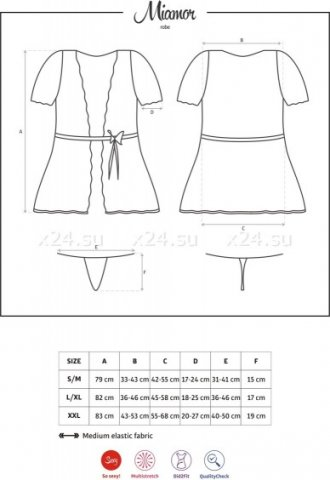 Халат с кружевными рукавами miamor robe, фото 5