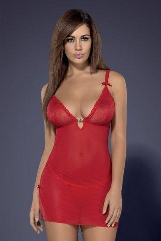 Красная сорочка romansia chemise, фото 2